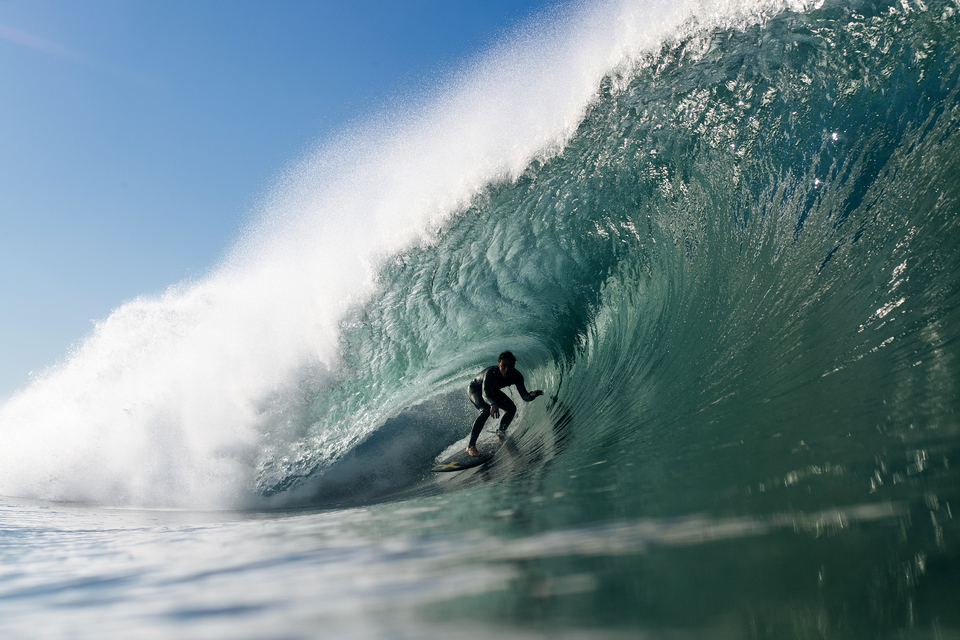 Will O Brien in the arms of Narrabeen - resembling cold Indo.