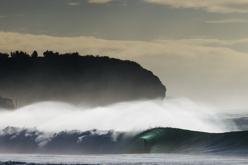 """In Sydney, the day was almost surreal. Kobi Clements having one of those """"here-I-am!"""" moments, Narrabeen."""