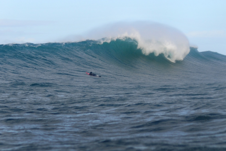 Cotty paddles out to see what treats Finn MacCool has to offer.