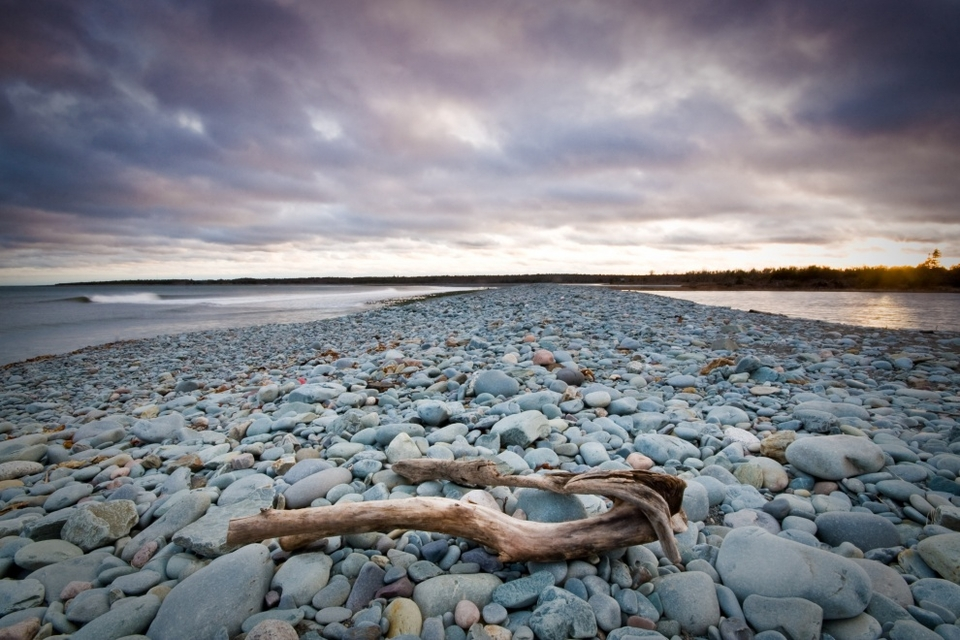 Long exposure sunset session at Cow Bay, Nova Scotia, by  Adam Cornick .