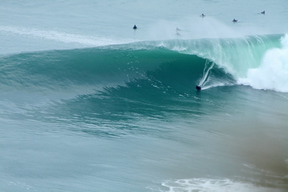 Ben Bottom turns to set up for a solid tube at the Cliffs the day before the accident.