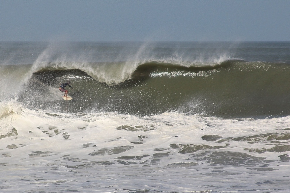 Florida's Satellite Beach looking big and hollow on Saturday.    More  here
