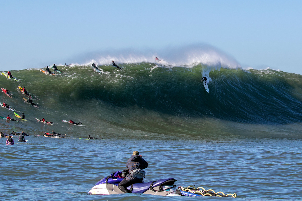 From the blue-hued waters of Jaws, to the emerald coloured Mav's. This is one hell of a trip.