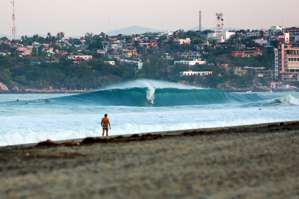 Greg Long, earlier this week as the swell began to fill in.
