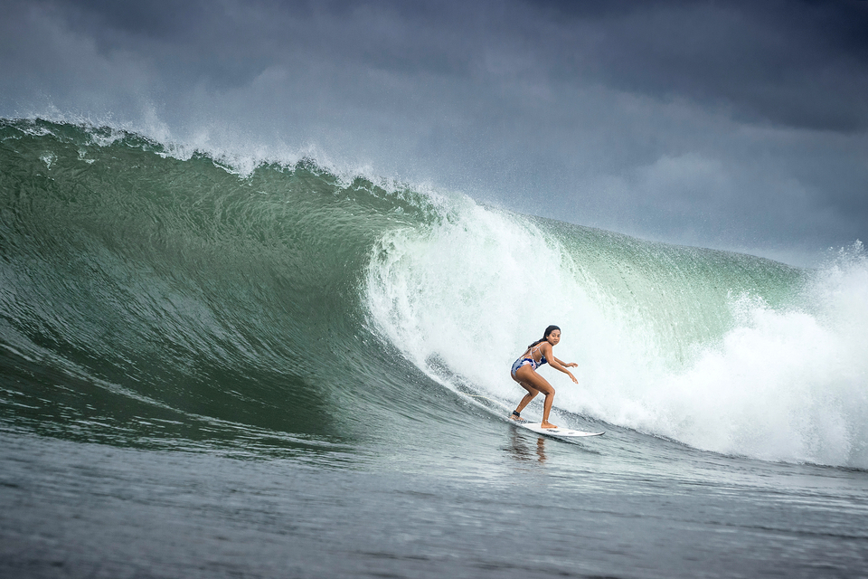 Taina Izquierdo is outspoken and articulate and a damn fine surfer.