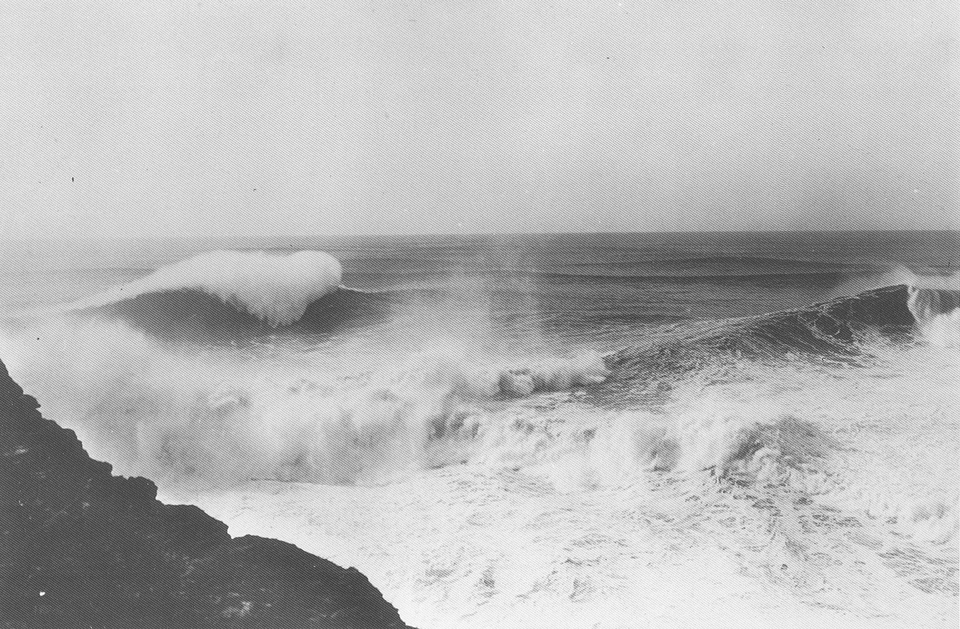 Nazare, 1930. Way before surfing was even a thing.