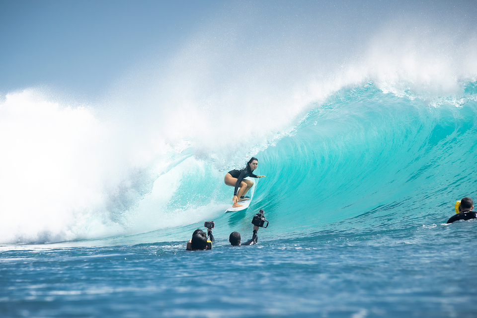 Kailani Johnson's surfing is growing in power and grace. A favorite of surf photographers, her fireworks at Padang Padang and Keramas ensure that the cameras are always turned her way.