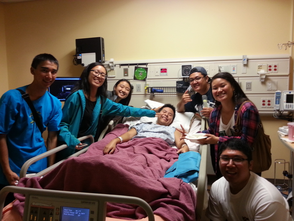 Mycah recovering in hospital.