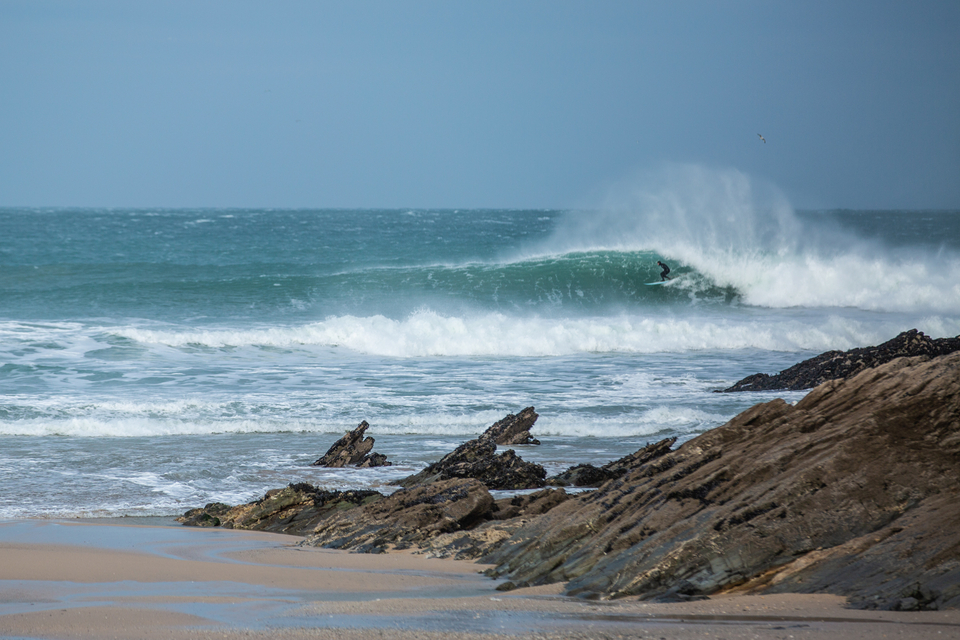 If you could get around the offshore breeze, there's a few runners to be found. Fistral.