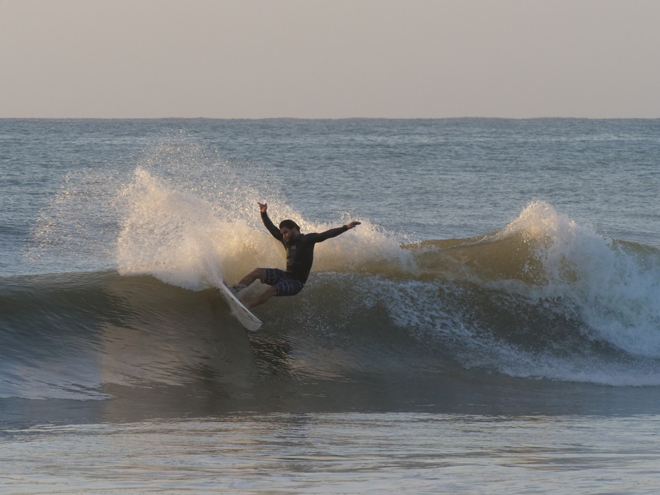 Local surfer and your guide, Frank Gonzalez.