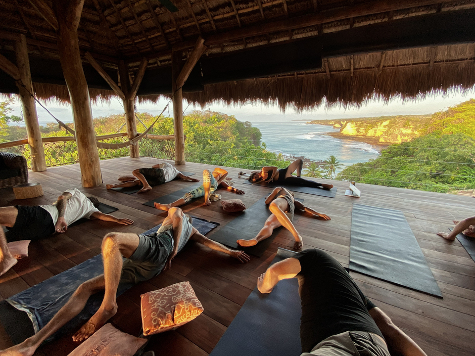 Restorative yoga classes to ease the sore muscles and keep us going.