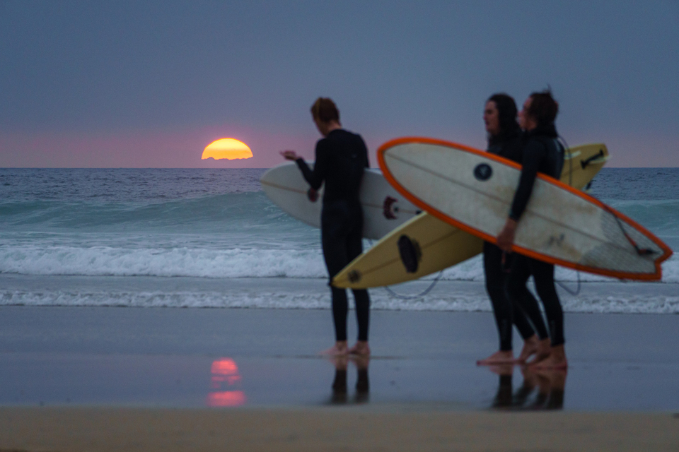 Last light on Tuesday after a session in the brine. Is there any better a feeling?