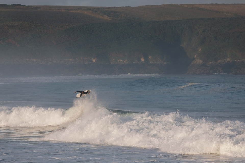 Wednesday, and above the lip enthusiast Harry Timson found an end section, launched high into the sky making it all the way around.
