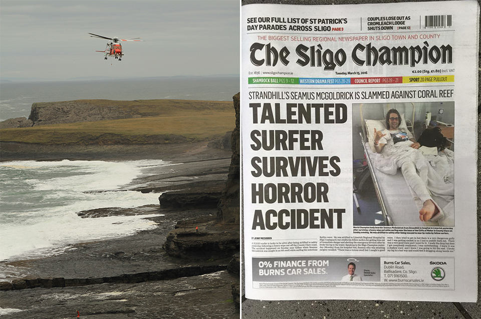 The rescue and the resultant media scrum. It made the cover of least one newspaper.