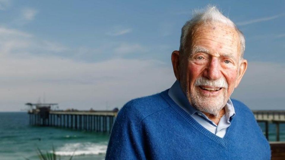 Walter Munk, a legendary oceanographer and one of the original pioneers of wave forecasting.