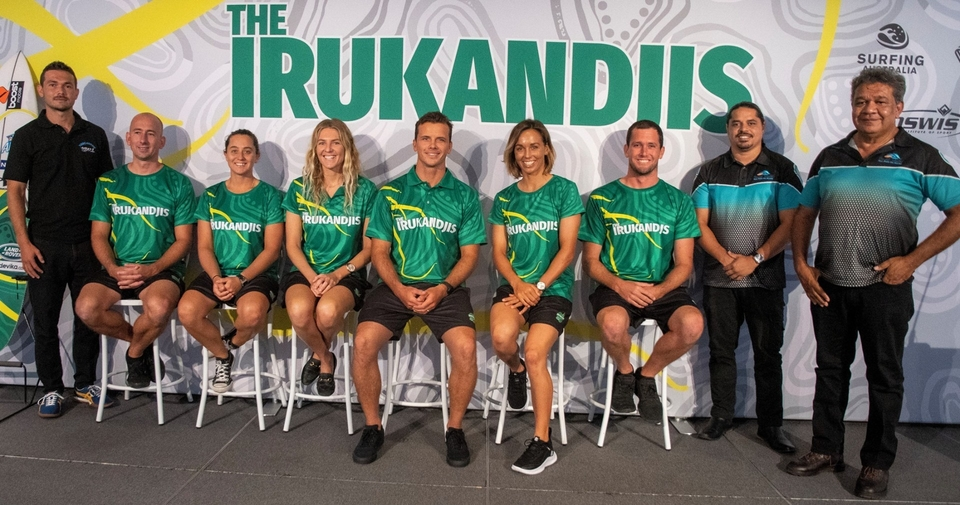 The Aus Olympic surfing team.